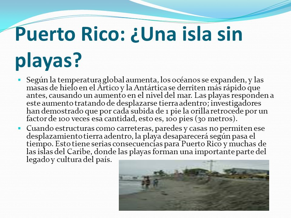Puerto Rico: ¿Una isla sin playas