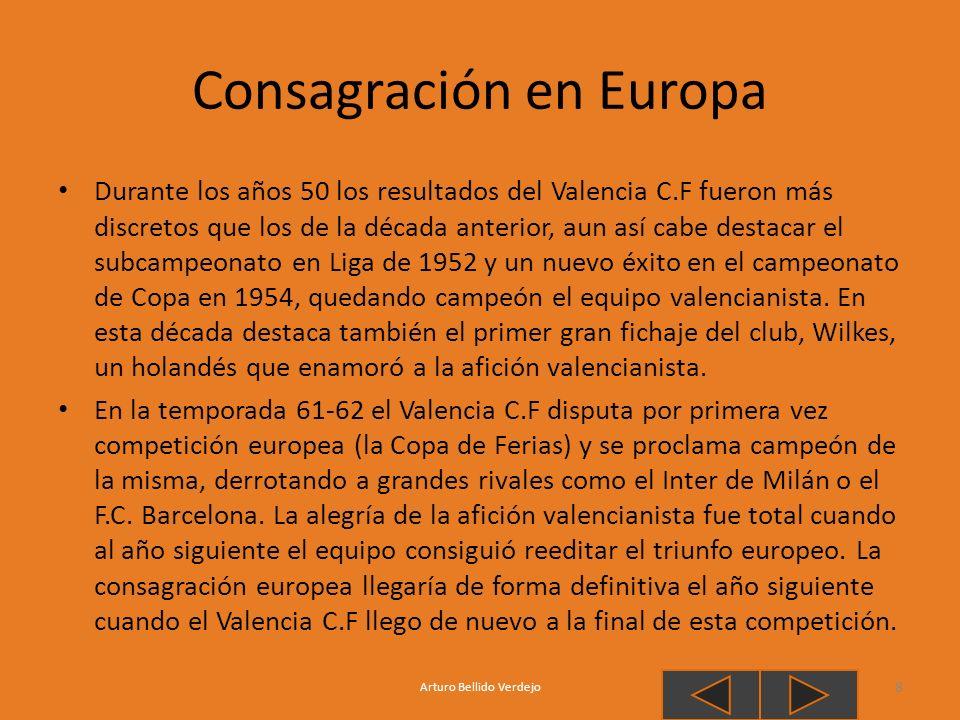 Consagración en Europa