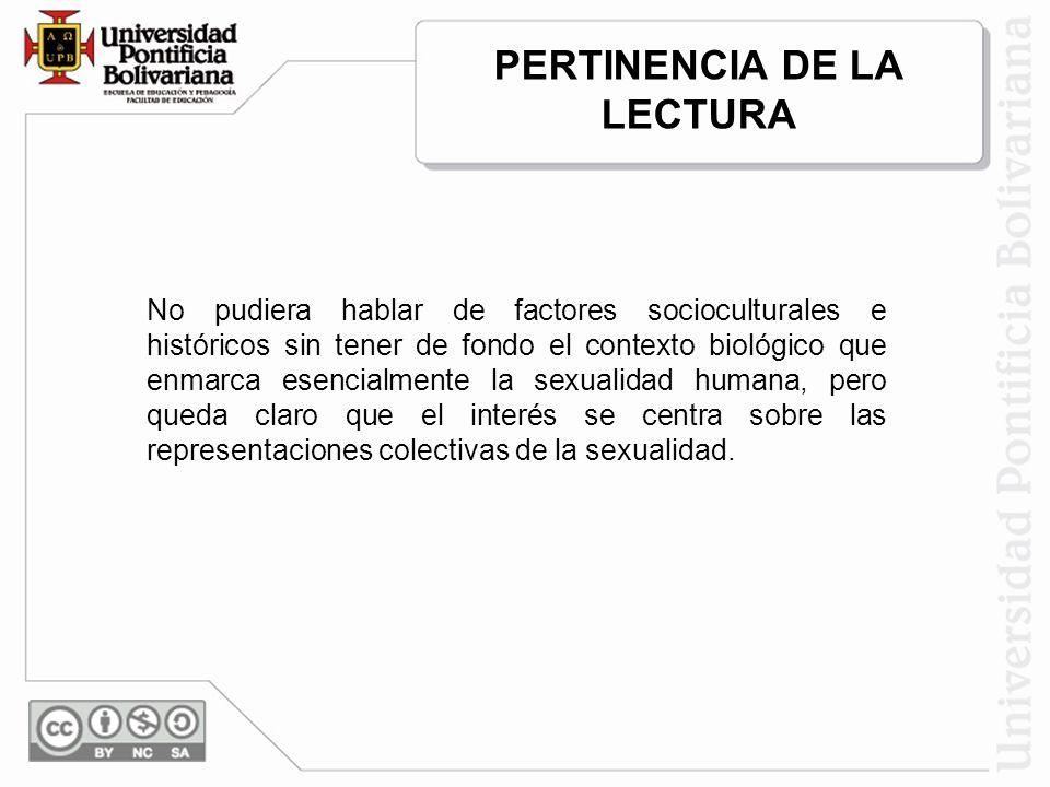 PERTINENCIA DE LA LECTURA