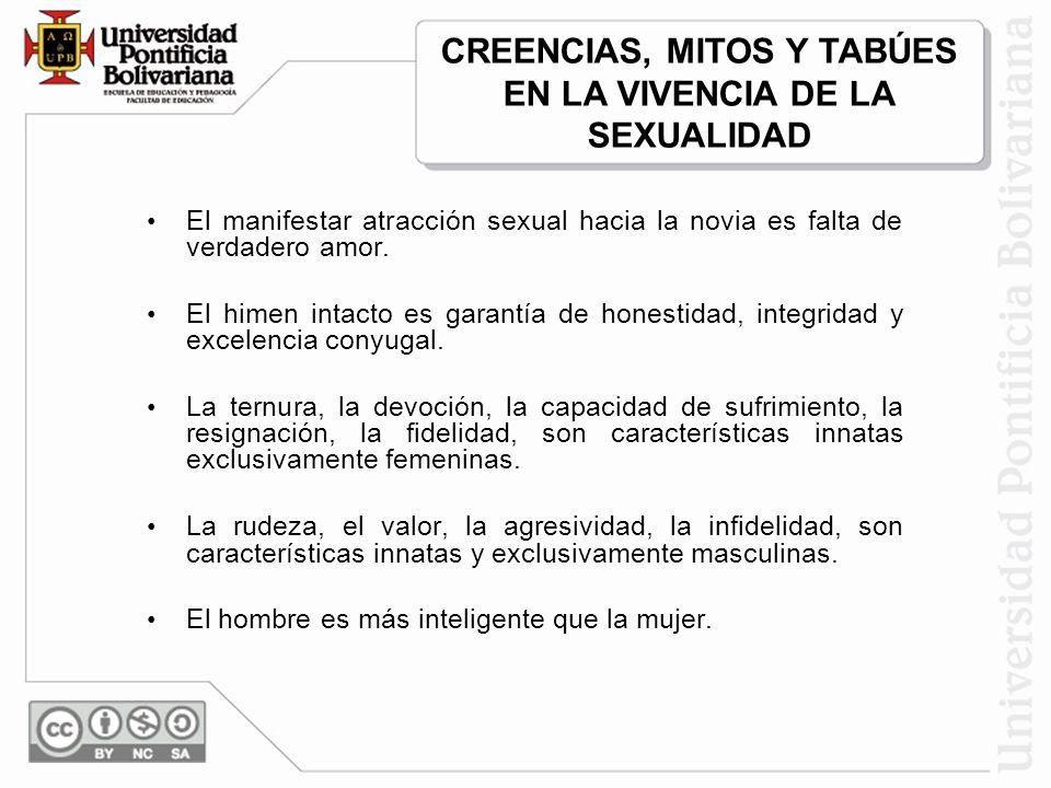 CREENCIAS, MITOS Y TABÚES EN LA VIVENCIA DE LA SEXUALIDAD