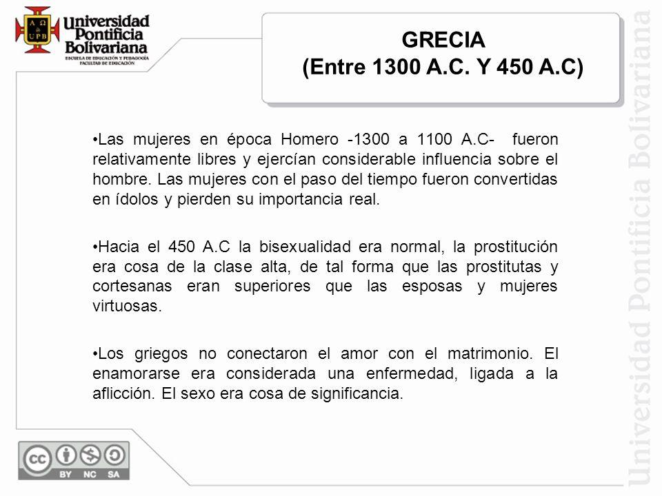 GRECIA (Entre 1300 A.C. Y 450 A.C)
