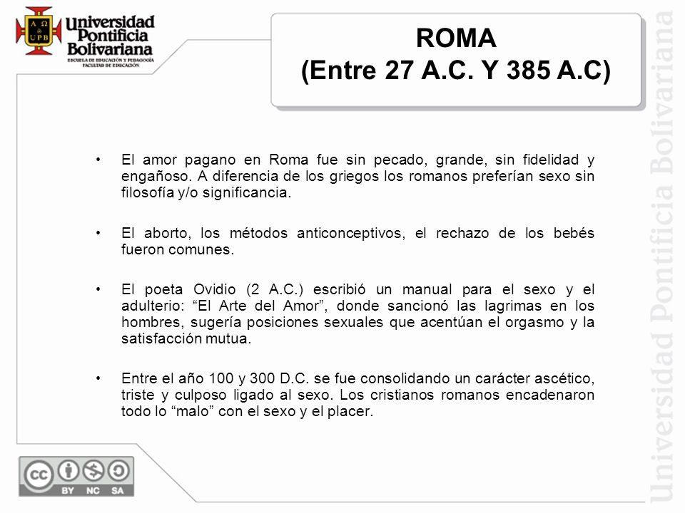 ROMA (Entre 27 A.C. Y 385 A.C)