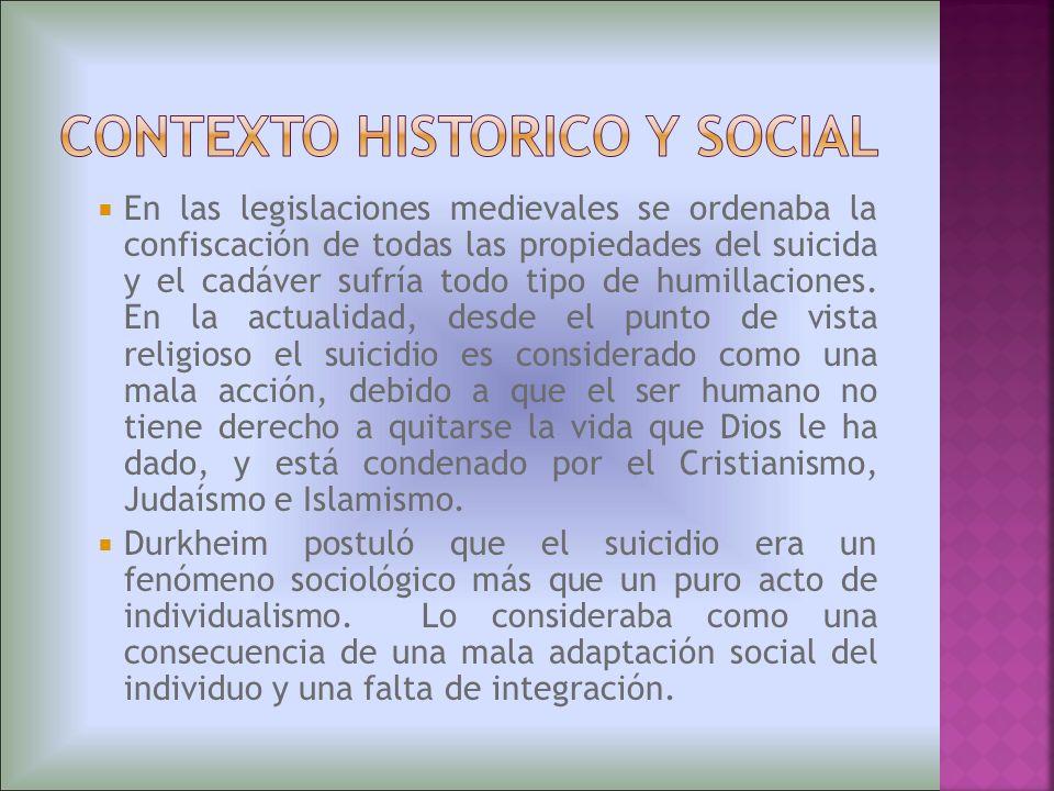 CONTEXTO HISTORICO Y SOCIAL