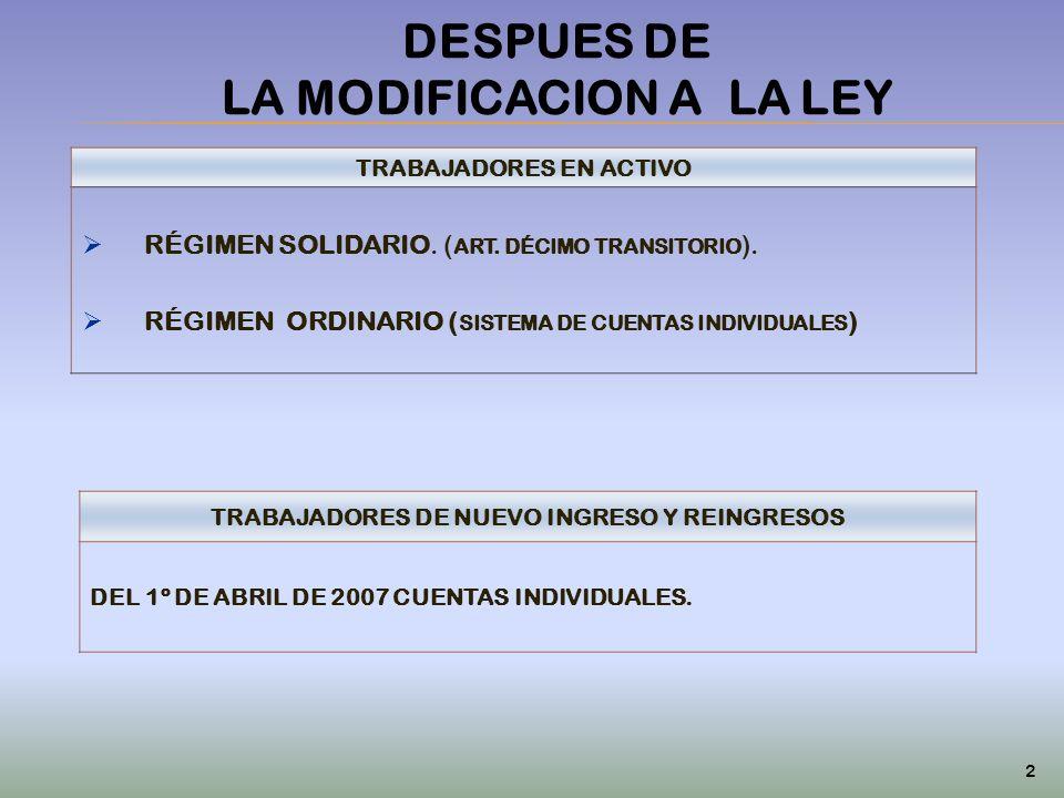 DESPUES DE LA MODIFICACION A LA LEY