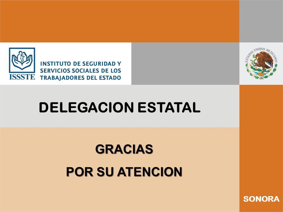 DELEGACION ESTATAL GRACIAS POR SU ATENCION SONORA