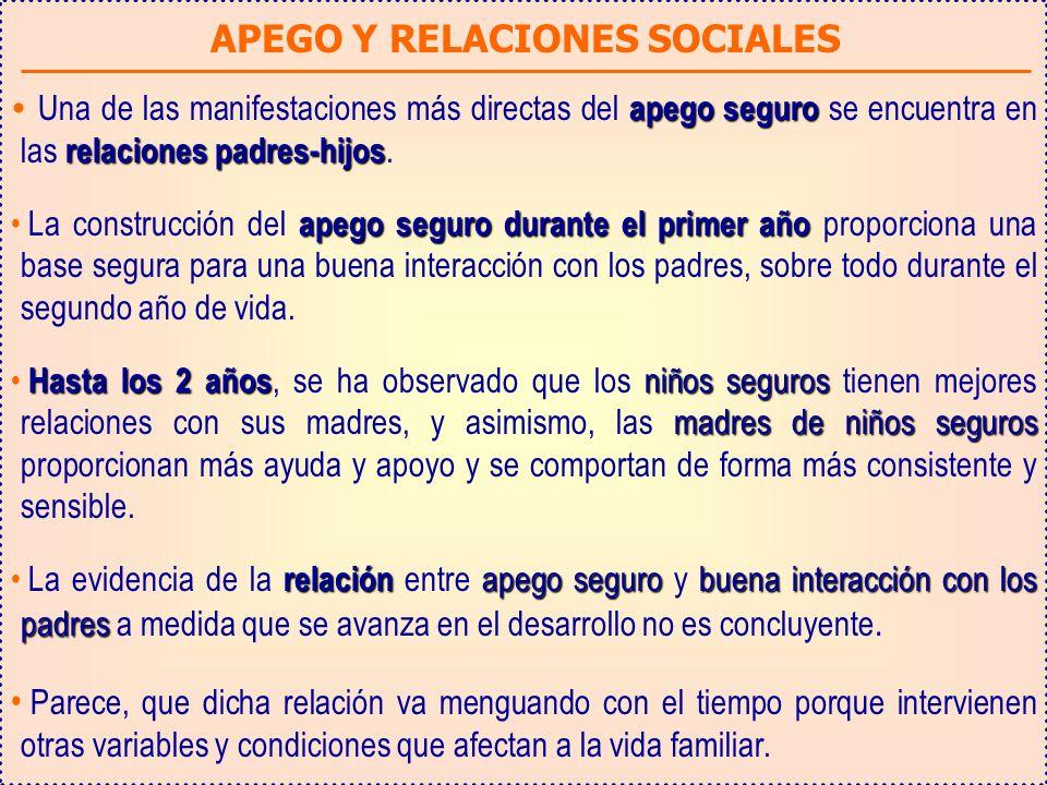 APEGO Y RELACIONES SOCIALES