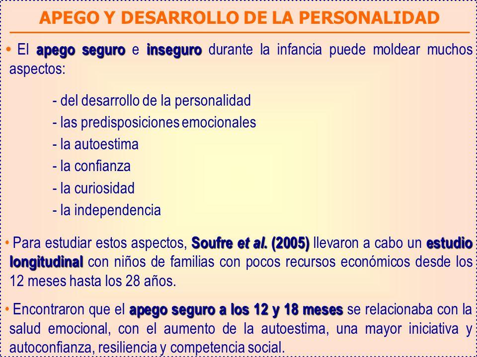 APEGO Y DESARROLLO DE LA PERSONALIDAD