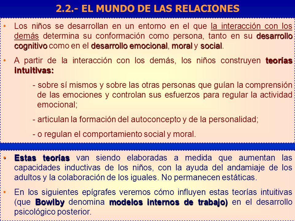 2.2.- EL MUNDO DE LAS RELACIONES