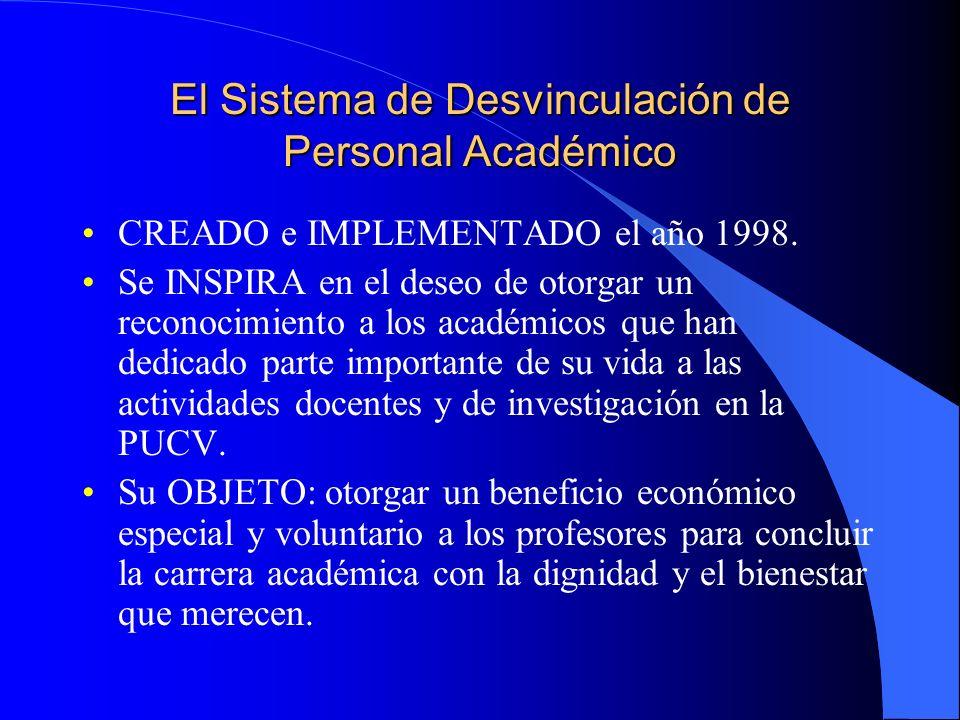 El Sistema de Desvinculación de Personal Académico