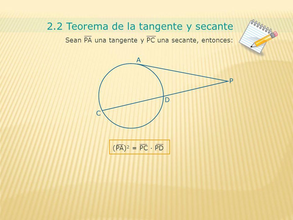 Circunferencia y circulo ppt descargar for Exterior tangente y secante