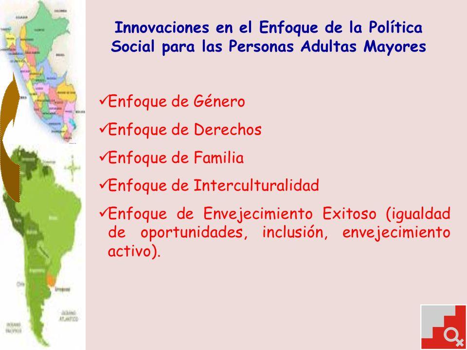 Innovaciones en el Enfoque de la Política Social para las Personas Adultas Mayores