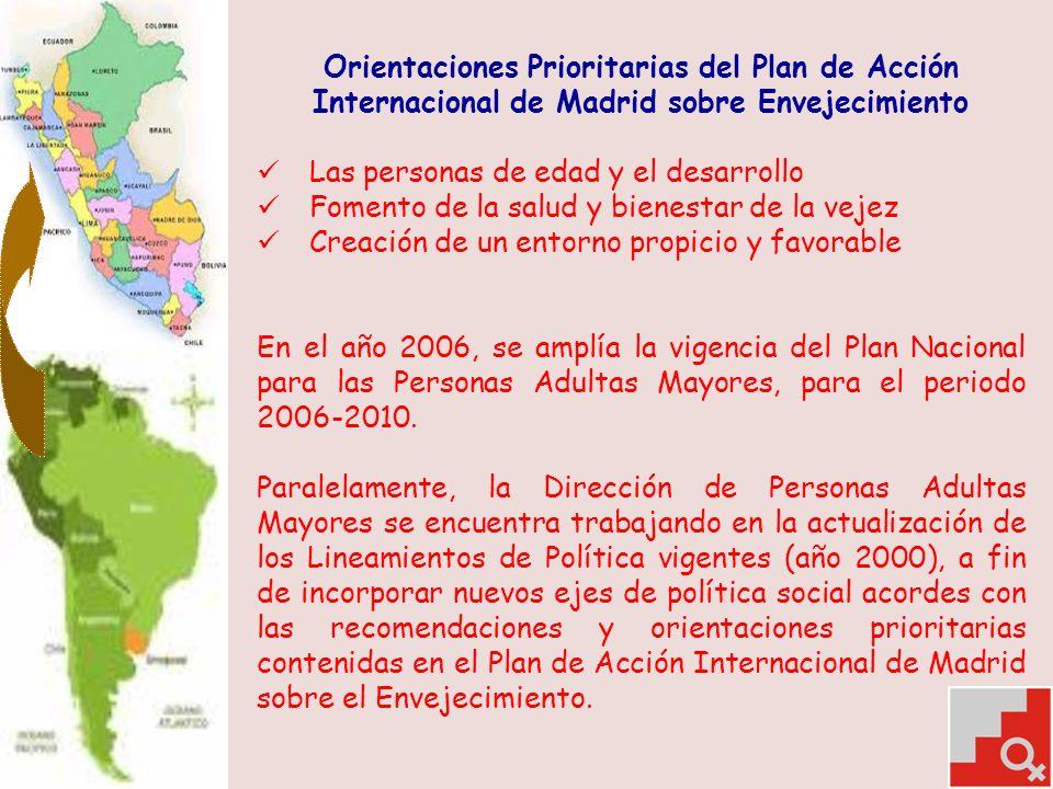 Orientaciones Prioritarias del Plan de Acción Internacional de Madrid sobre Envejecimiento