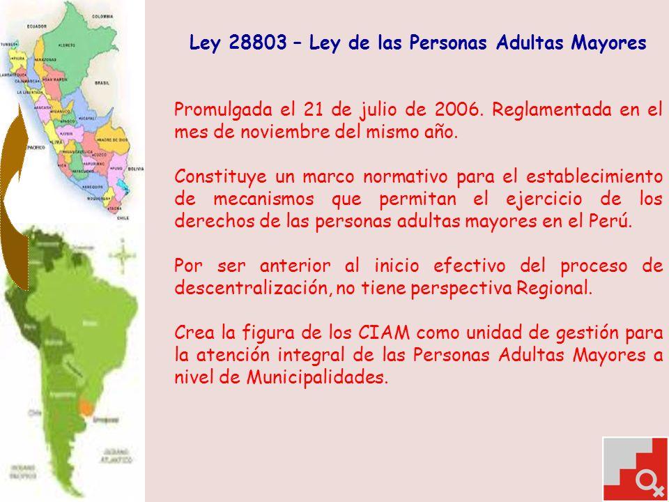 Ley 28803 – Ley de las Personas Adultas Mayores