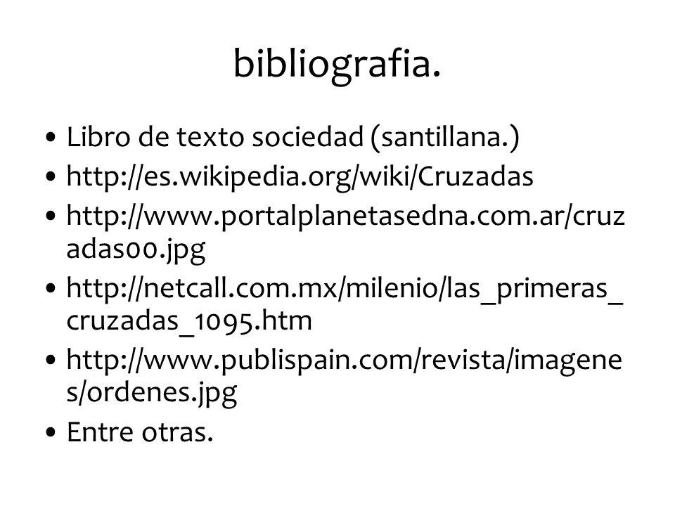 bibliografia. Libro de texto sociedad (santillana.)