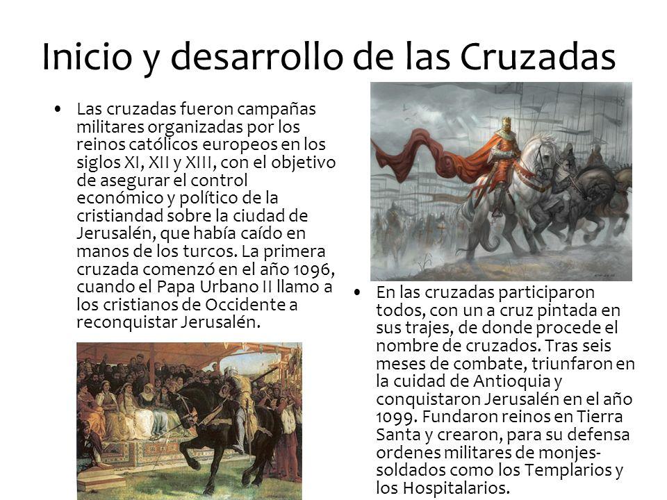 Inicio y desarrollo de las Cruzadas