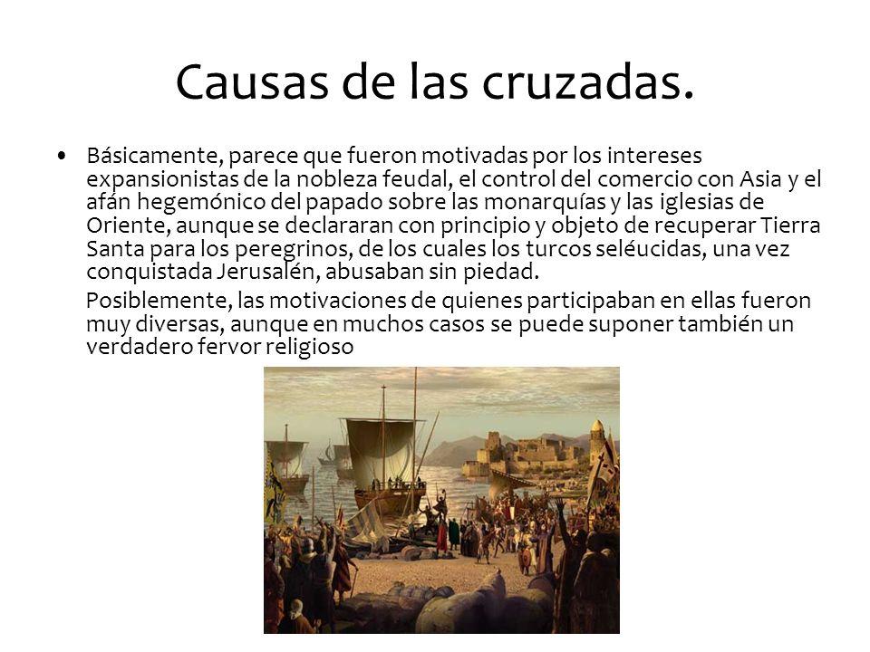 Causas de las cruzadas.
