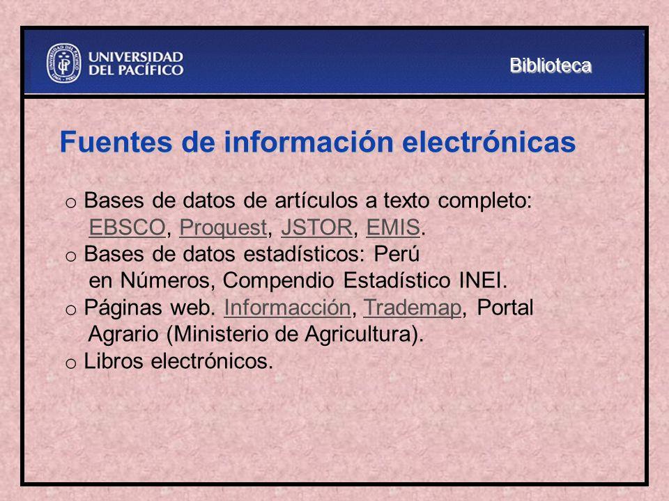 Fuentes de información electrónicas