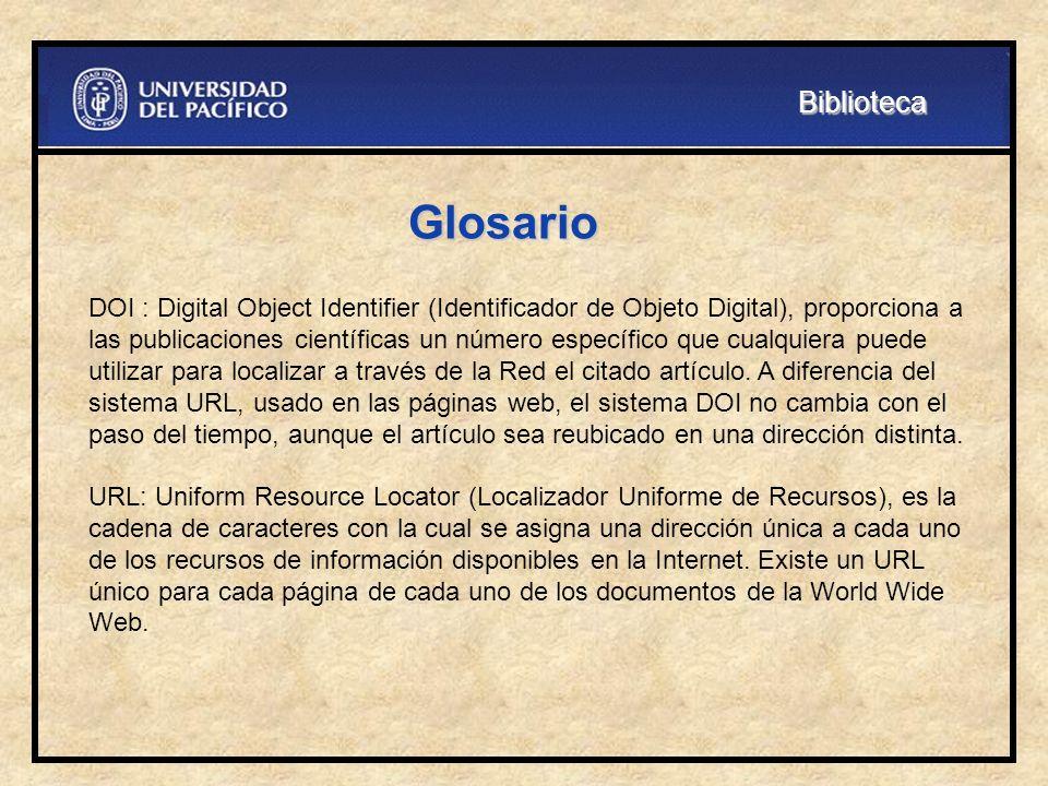 Biblioteca Glosario.