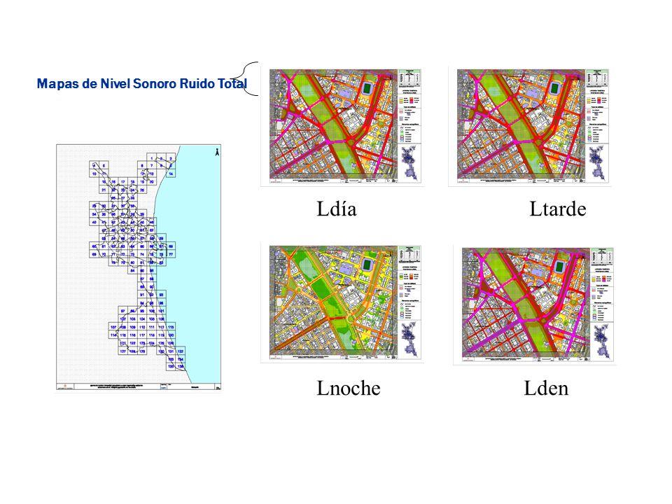 Mapas de Nivel Sonoro Ruido Total