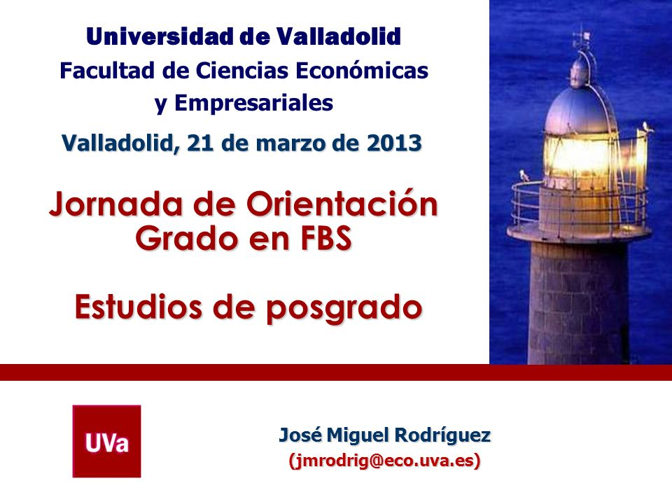 Jornada de Orientación Grado en FBS Estudios de posgrado