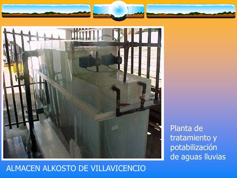 Planta de tratamiento y potabilización de aguas lluvias