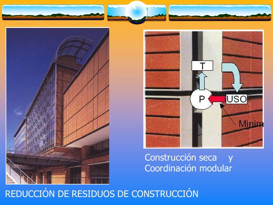 Construcción seca y Coordinación modular REDUCCIÓN DE RESIDUOS DE CONSTRUCCIÓN