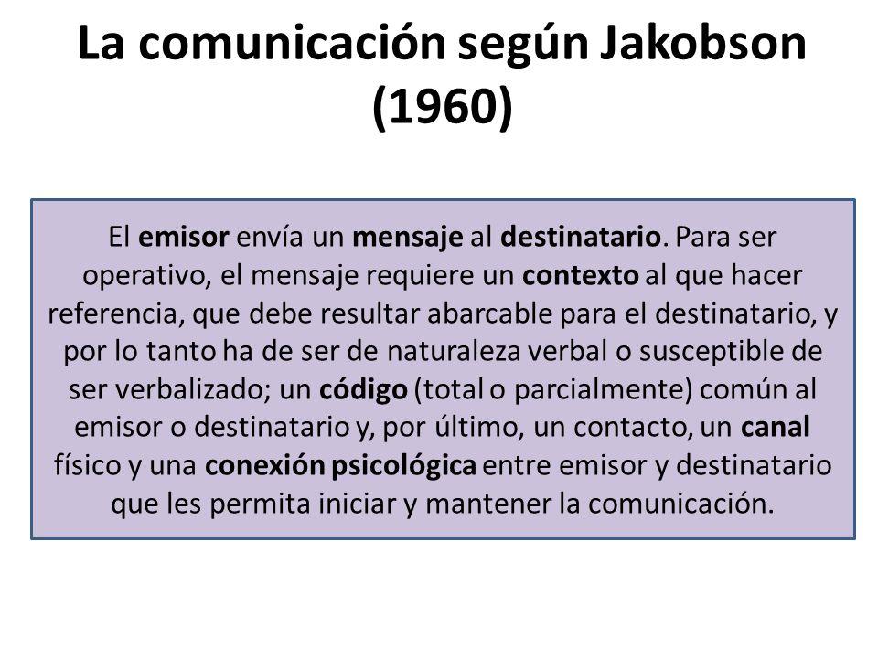 La comunicación según Jakobson (1960)