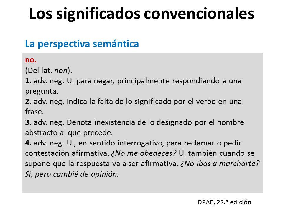 Los significados convencionales