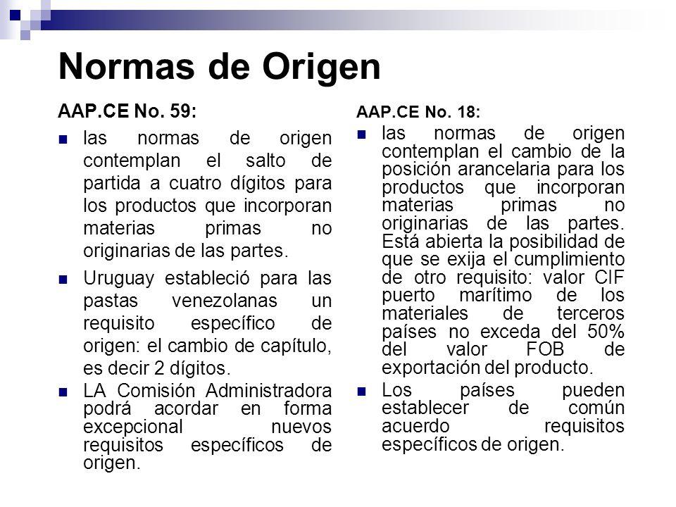 Normas de Origen AAP.CE No. 59: