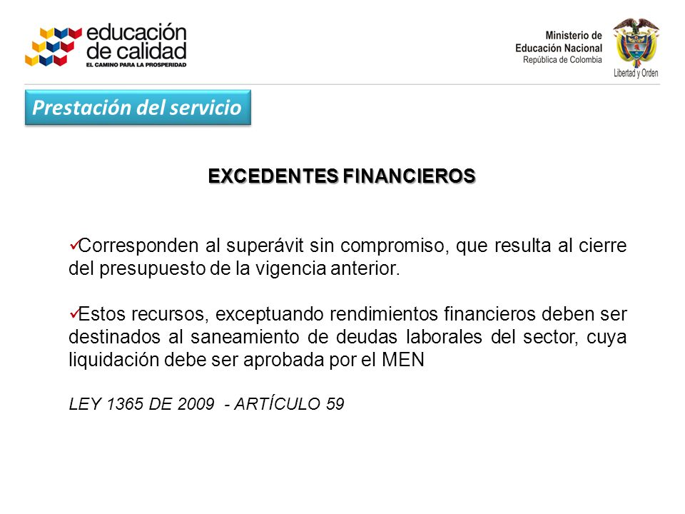 EXCEDENTES FINANCIEROS