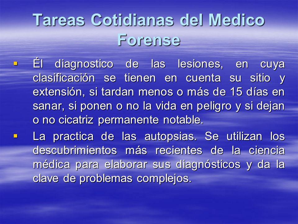 Tareas Cotidianas del Medico Forense