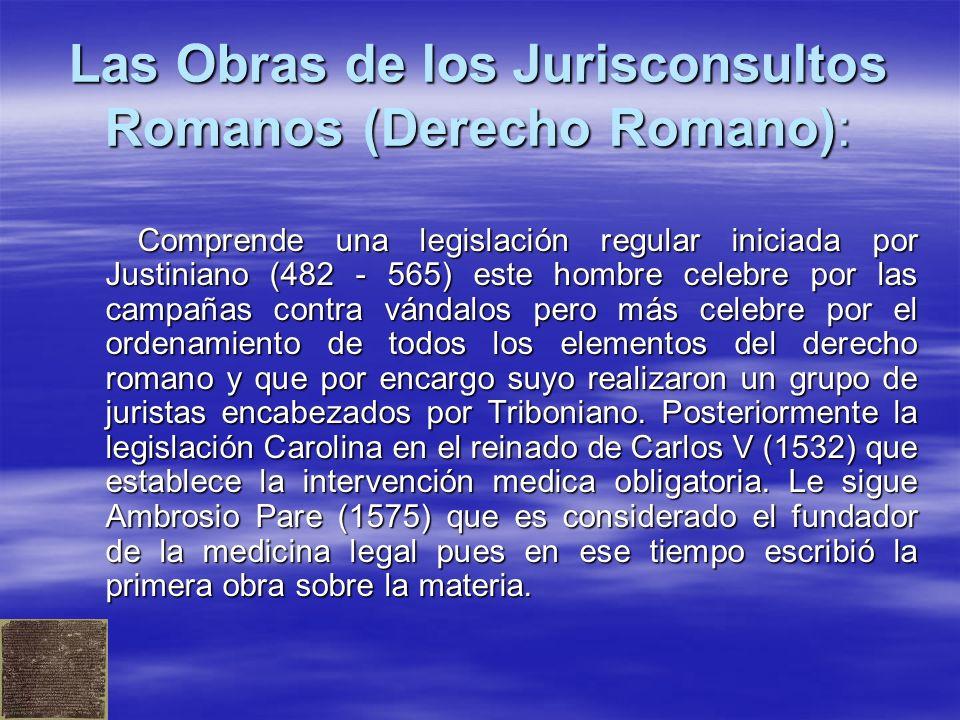 Las Obras de los Jurisconsultos Romanos (Derecho Romano):