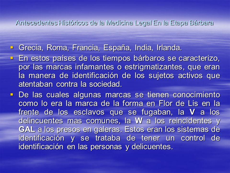 Antecedentes Históricos de la Medicina Legal En la Etapa Bárbara