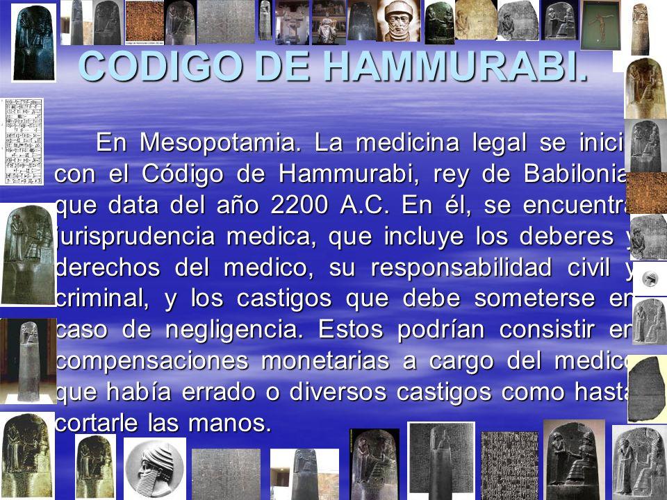 CODIGO DE HAMMURABI.