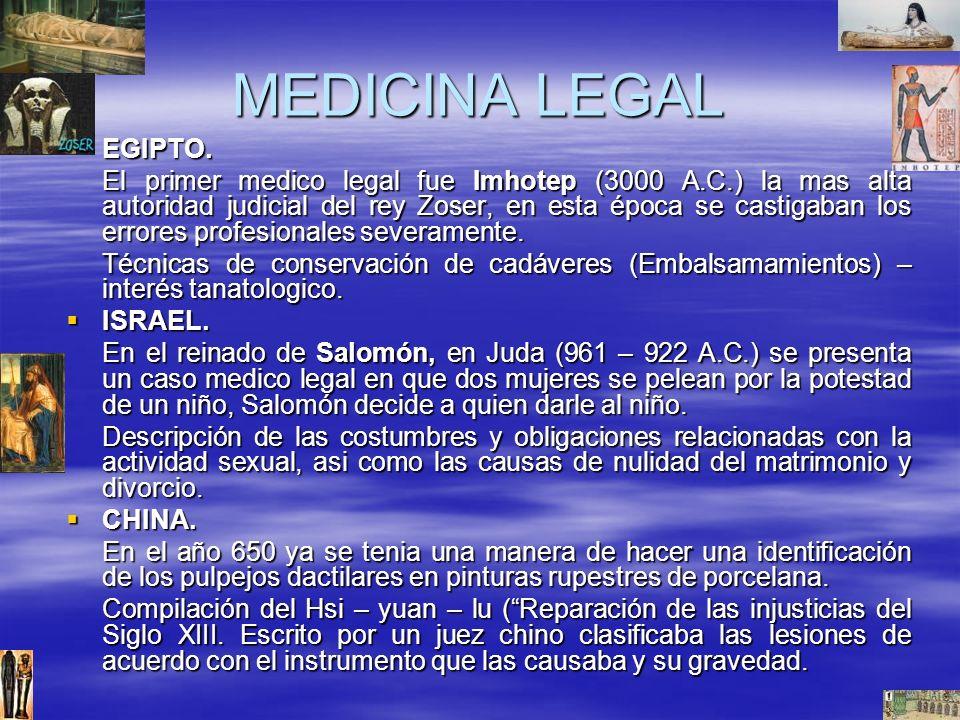 MEDICINA LEGAL EGIPTO.