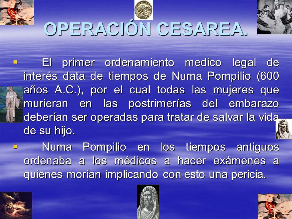 OPERACIÓN CESAREA.