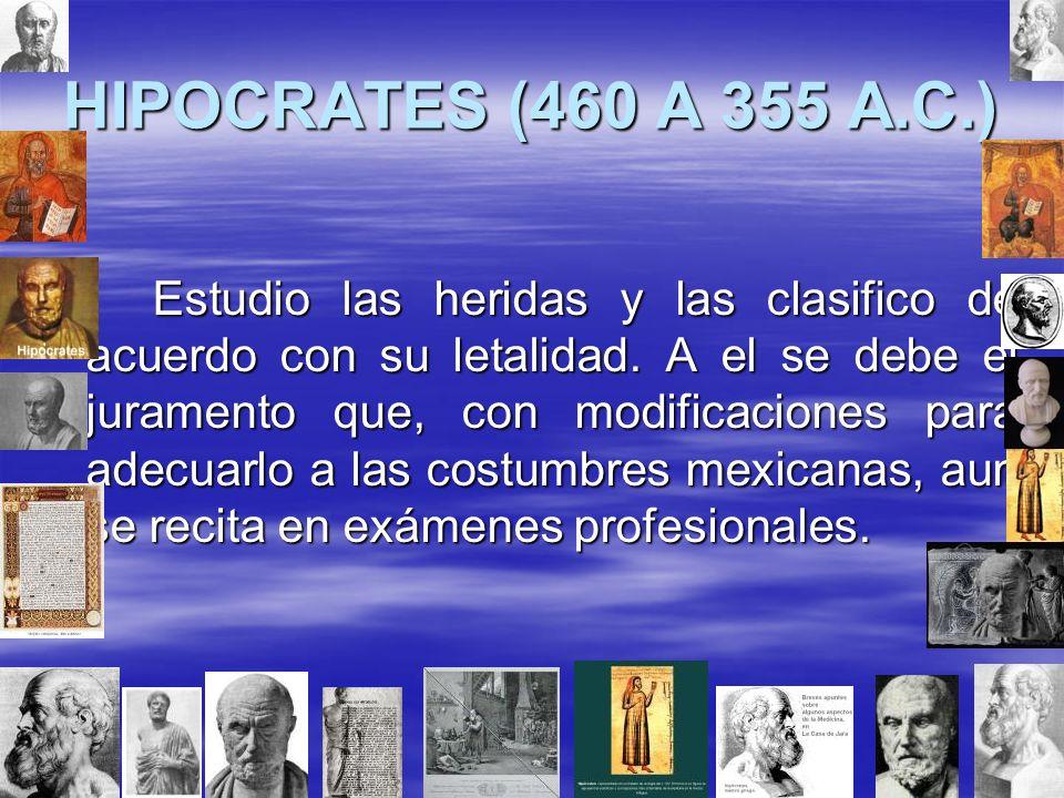 HIPOCRATES (460 A 355 A.C.)