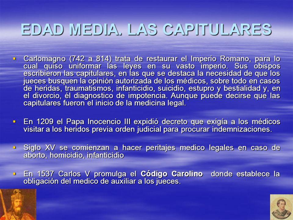 EDAD MEDIA. LAS CAPITULARES