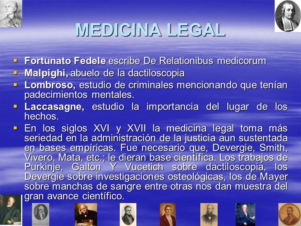 MEDICINA LEGAL Fortunato Fedele escribe De Relationibus medicorum
