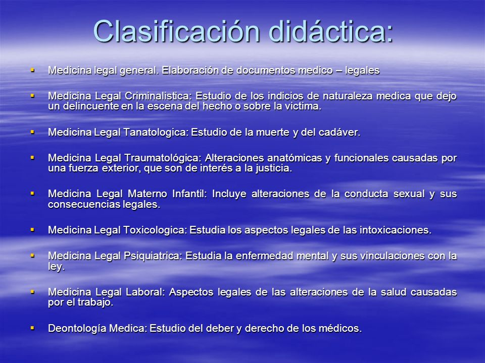 Clasificación didáctica: