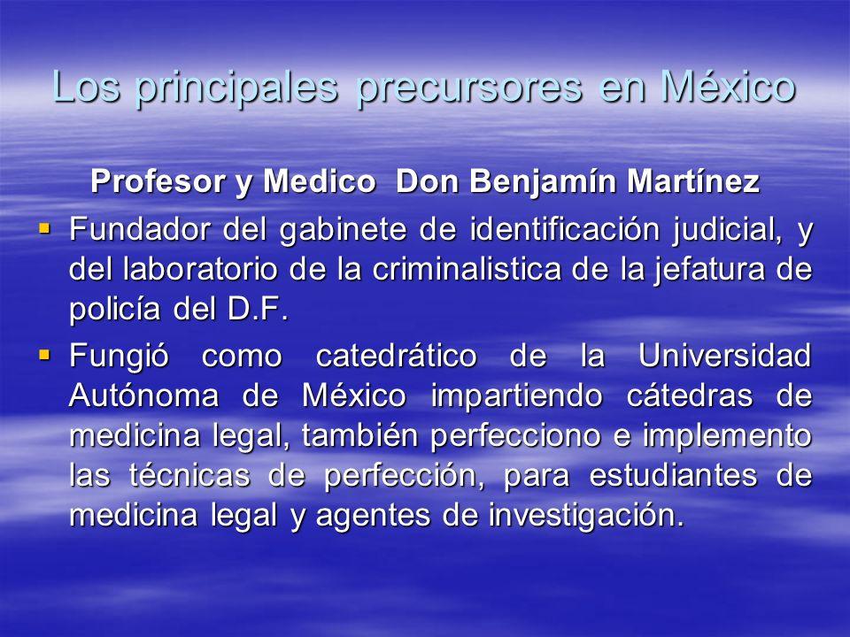 Los principales precursores en México