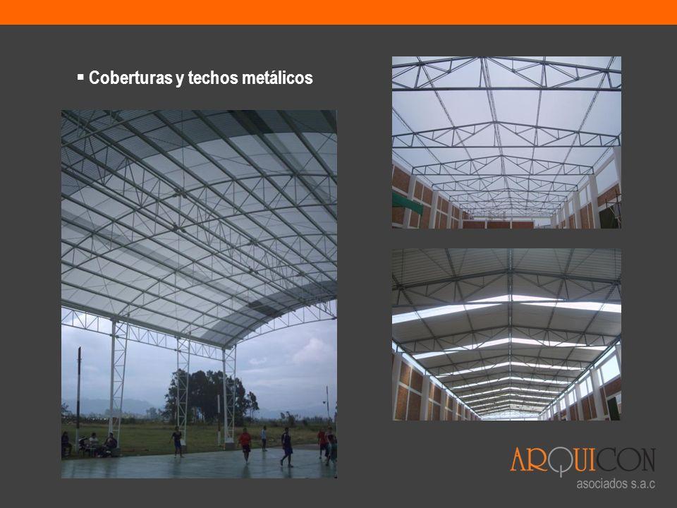 Coberturas y techos metálicos