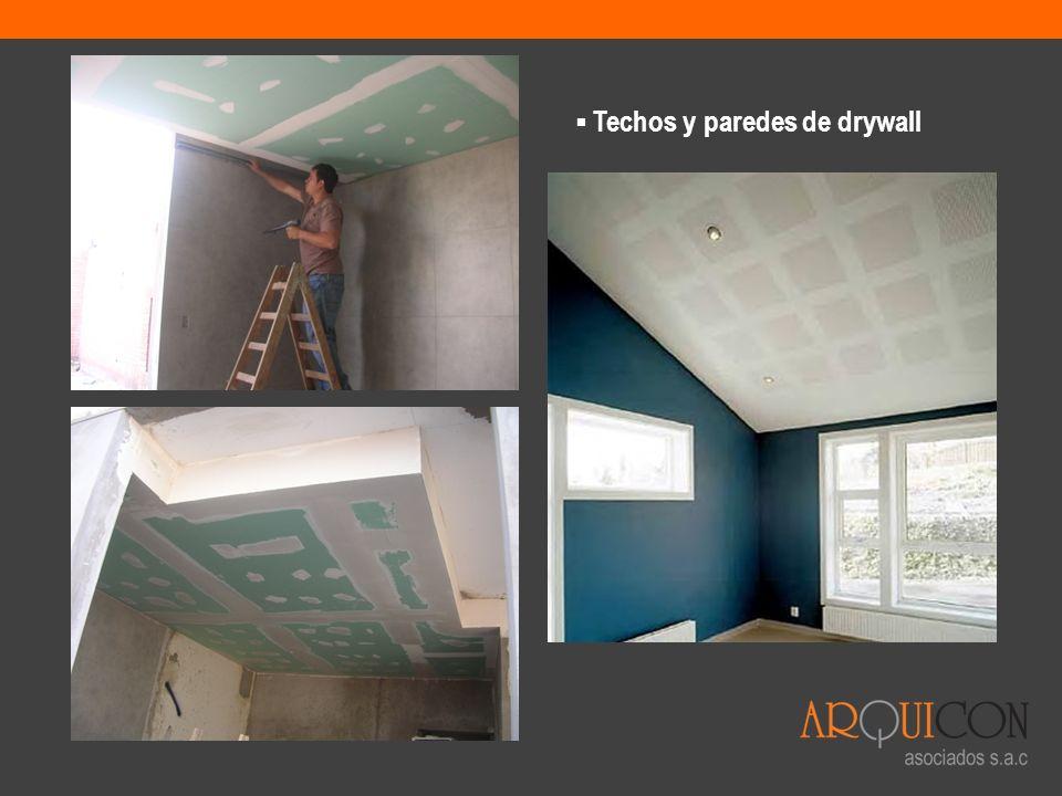 Techos y paredes de drywall