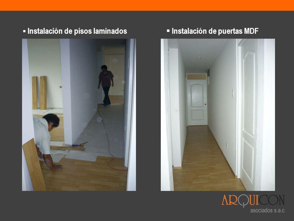 Instalación de puertas MDF