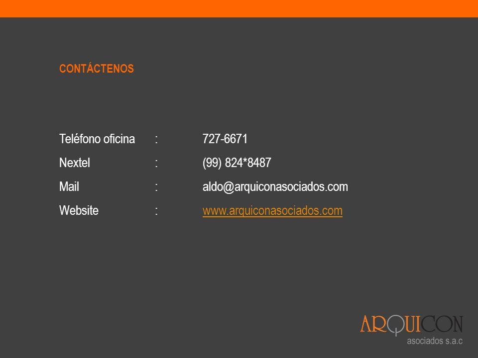 Mail : aldo@arquiconasociados.com Website : www.arquiconasociados.com