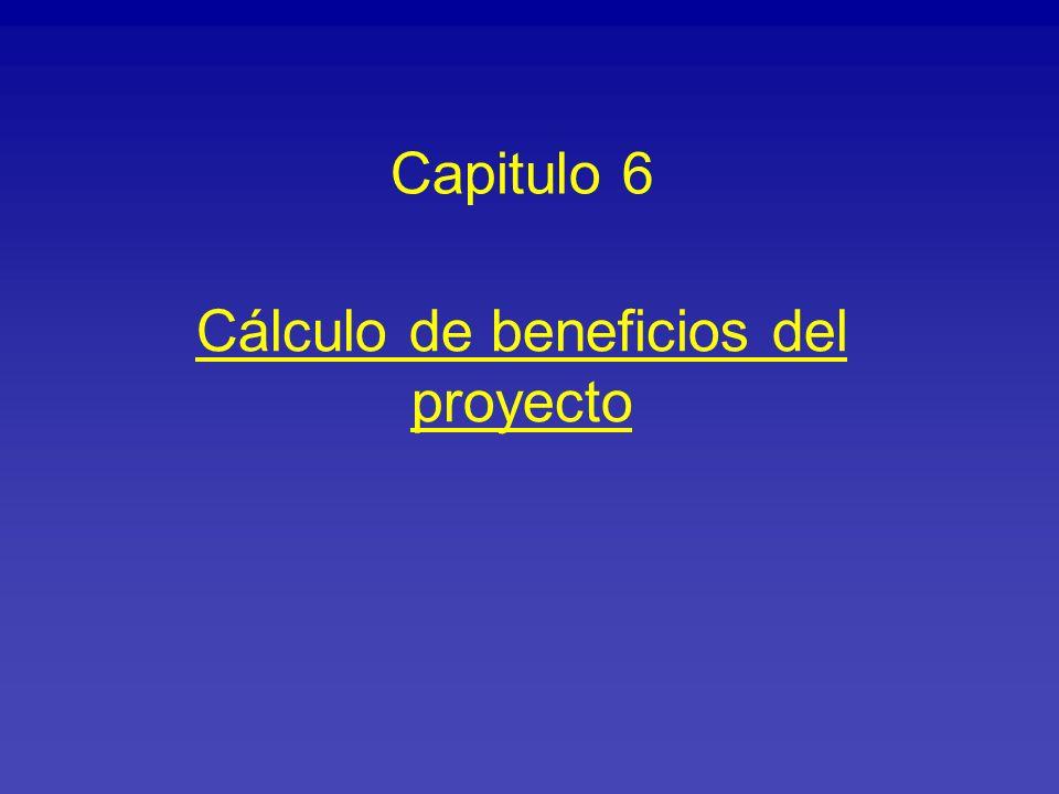 Cálculo de beneficios del proyecto