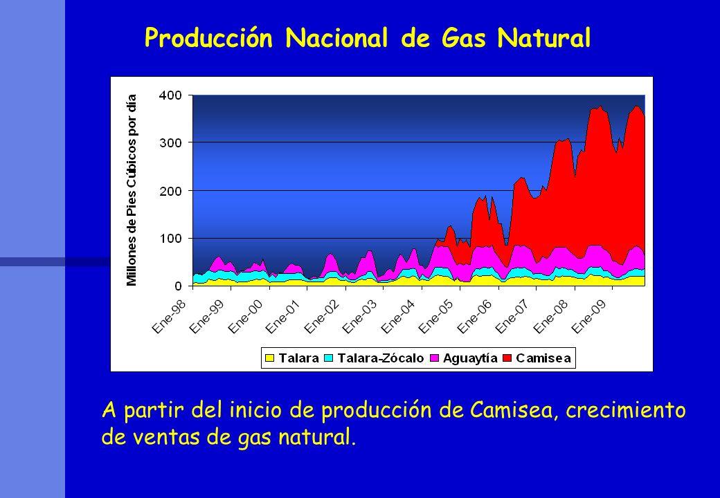 Producción Nacional de Gas Natural