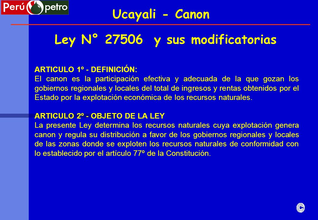 Ley N° 27506 y sus modificatorias