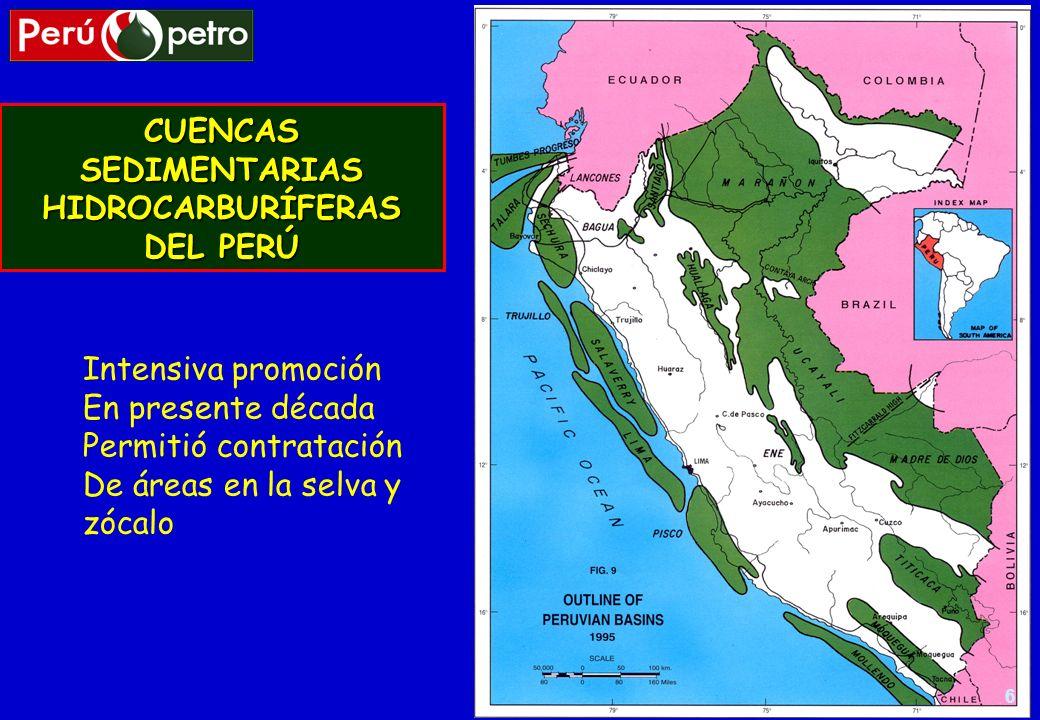 CUENCAS SEDIMENTARIAS HIDROCARBURÍFERAS DEL PERÚ