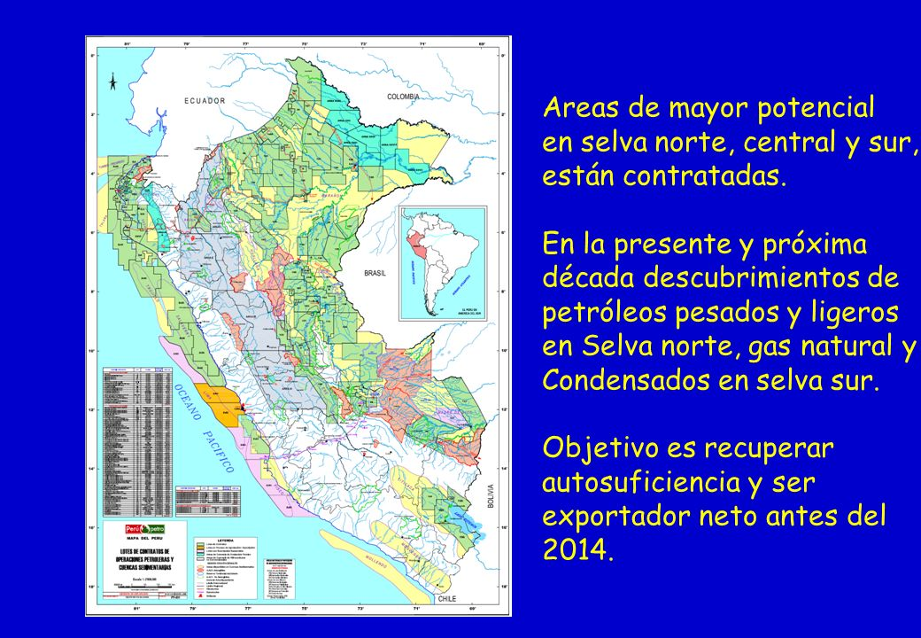 Areas de mayor potencial